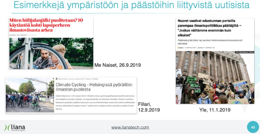 Pyöräliitto hyödyntää Liana Technologiesin tekemää media-analyysiä kartoittamaan pyöräilyn saamaa julkisuutta