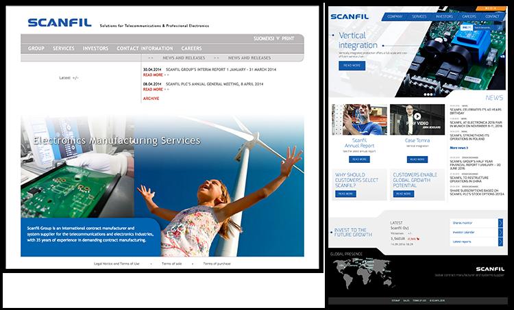Scanfilin verkkosivu-uudistus toteutettiin Sivuviidakolla.