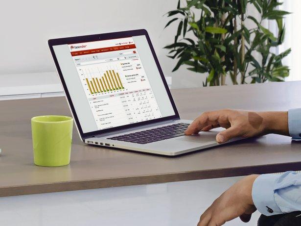 Lianan sähköpostimarkkinointityökalun käyttöliittymä