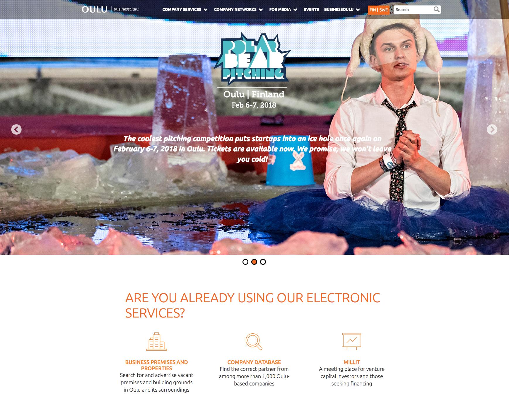 BusinessOulu päätti käyttää Sivuviidakkoa verkkosivu-uudistuksessaan